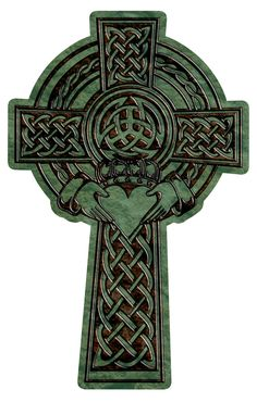 Celtic Cross with claddagh
