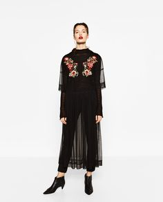 Image 1 of EMBROIDERED TULLE DRESS from Zara