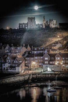 Whitby in North Yorkshire. Relax with these backyard landscaping ideas and landscape design. Yorkshire England, Yorkshire Dales, North Yorkshire, Yorkshire Towns, Visit Yorkshire, England Uk, Northern England, Oxford England, Moon Moon