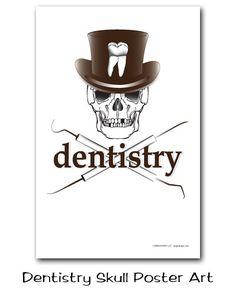 Poster Art Dentistry Skull Poster Art