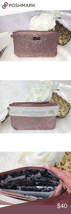 NEW!! Adrienne Vittadini Charging Wristlet - Pink NWT Adrienne Vittadini Charging Wristlet- Pink  NEVER get stranded without power again! Now you can charge your phone inside your wallet! At last, one portable power source to charge all your devices at work, at the gym, out to dinner, while shopping, even on vacation. Each wallet contains a removable, reusable and completely portable USB charging power bank. Charger is compatible with iPhone, Blackberry, Android, Galaxy and Smartphone…