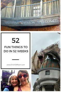 Ariella Moon. The Wizarding World of Harry Potter in Orlando is a great place for magical family fun. Some of my most magical adventures began with a book. #LibrariesRock 52 Fun Things To Do In 52 Weeks. Fun Thing #1.