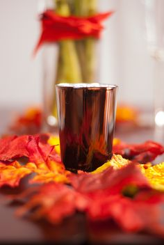 Fall and Thanksgiving table decor with Williams Sonoma votives and kate spade // Cheers J