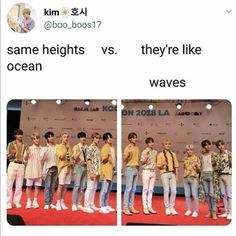 Seventeen's height difference is iconic Seungkwan, Wonwoo, Jeonghan, Seventeen Memes, Seventeen Woozi, Carat Seventeen, K Pop, Day6 Sungjin, Choi Hansol