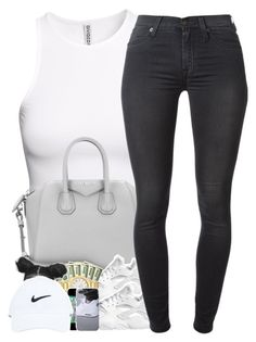 """""""7/2/15"""" by janiceeveillard ❤ liked on Polyvore featuring H&M, Givenchy, NIKE and 7 For All Mankind"""