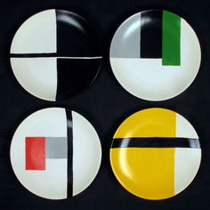 De Stijl ceramic plates from Darkroom. http://www.darkroomlondon.com/index.php/collections/stolen-from-de-stijl