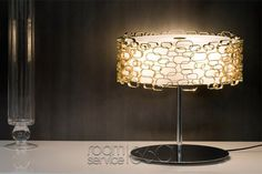 Glamour Table Lamp in Gold by Dodo Arslan for Terzani Unique Table Lamps, Contemporary Table Lamps, Glow, Glamour, Lighting, Modern, Furniture, Design, Home Decor