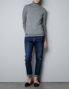 POLO NECK SWEATER WITH BUTTONED CUFFS - Woman - New this week - ZARA United States