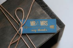 Laser Cut Favor Tag  Arrow  Mr. and Mrs. by AFlutteredCollection, $150.00