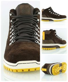 K1X H1KE TERRITORY CLASSIC LE MK2 sneakerboot in dark brown with yellow accents.