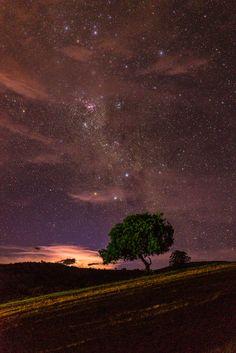 Caçapava do Sul, Brasil, Night light by Naoki Arima