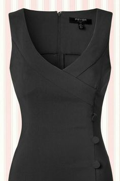 Fever 50s Julia Pencil Dress in Black