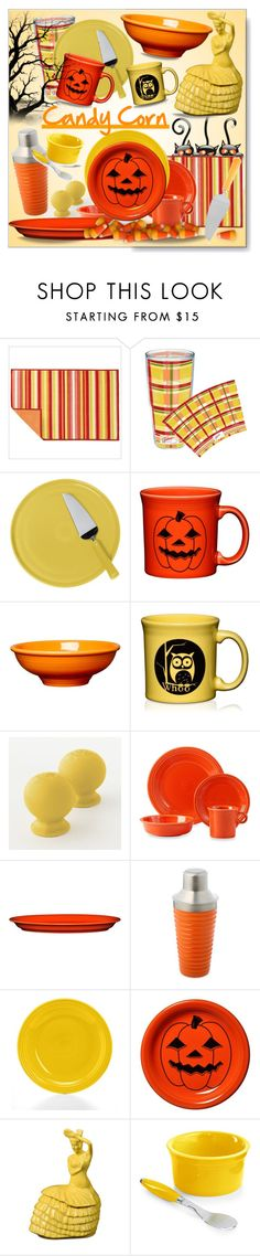 """""""National Candy Corn Day * October 30th"""" by calamity-jane-always ❤ liked on Polyvore featuring interior, interiors, interior design, home, home decor, interior decorating, Fiesta, Halloween, homedecor and candycorn 