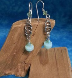 Peruvian Blue Opal Earrings by aDorylableDesigns on Etsy