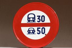 RESERVED for ANN.Enamel Road Sign. Speed Limit by LePasseRecompose