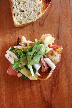 Prosciutto, Endive & Shaved Manchego Salad with Tarragon-Shallot Vinaigrette - alexandra's kitchen
