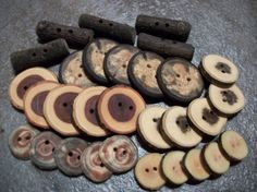 Wooden Button Variety Pack 30 Buttons by PymatuningCrafts on Etsy, $16.00