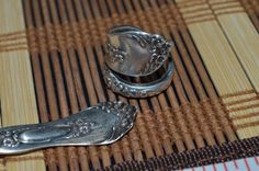 Hand Hammered / Made Wide Silver Spoon Detailed Floral Ring   #Handmade #vintagespoonring