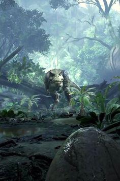 Robinson: The Journey - Playstation VR Dinosaur Videos, Dinosaur Funny, Dinosaur Art, Blue Jurassic World, Jurassic World Dinosaurs, Jurassic World Videos, Mythical Creatures Art, Fantasy Creatures, Fantasy World