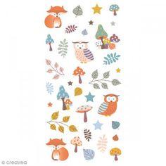 Stickers Puffies 13,5 x 8 cm - Otoño - 26 uds - Fotografía n°1