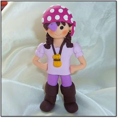 Pirate Girl Cake Topper from Miss Mollie