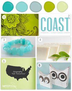 Lime + Turquoise Etsy Inspiration - Saffron Avenue