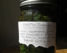 Cold And Flu Tincture Using Herbs| Take Half A Teaspoon Every Hour