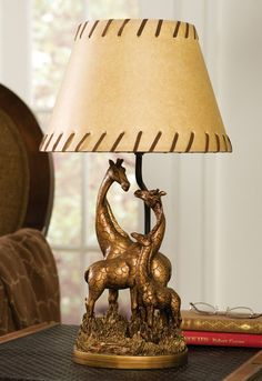 Safari Theme Bedroom Giraffe Family Table Lamp
