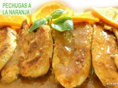 pechugas de pollo a la naranja, riquísimas! Turkey, Food And Drink, Diet, Chicken, Cooking, Salads, Recipes, Healthy Orange Chicken, Easy Orange Chicken