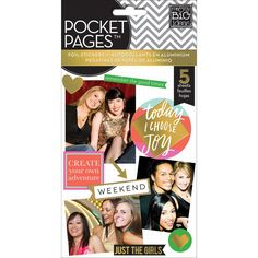Me & My Big Ideas Pocket Pages Clear Stickers - Big City Brights