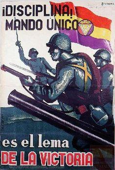 Autor:Beltrán Titulo:¡Disciplina!, mando único, es el lema de la victoria Editor:Izquierda Republicana Imprenta:Litografía Félix Martínez, Control CNT-UGT Fechas:1937