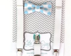 Blush Suspenders and Nude Bow Tie for Boys..Ring by LittleBoySwag
