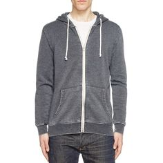 Threads For Thought Burnout Zip Hoodie - Compare at $74 ($35) ❤ liked on Polyvore featuring men's fashion, men's clothing, men's hoodies, dark grey, mens hoodies, mens zipper hoodies, mens sweatshirts and hoodies and mens zip up hoodies
