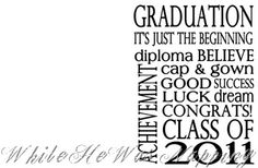 Graduation printable card