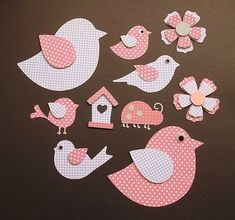 This Pin was discovered by Cha Applique Patterns, Applique Quilts, Applique Designs, Felt Crafts, Diy And Crafts, Crafts For Kids, Paper Crafts, Bird Template, Bird Party