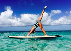 Beautiful photo of a beautiful friend doing Yoga in Turks and Caicos!