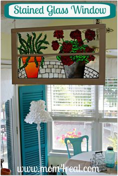 Mom 4 Real: Faux Stained Glass Window #MichaelsStores