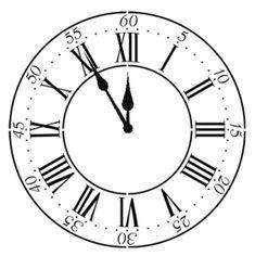 Stencil Details for 22 Inch Roman Clock  - dsw005b