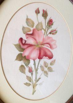 Folk Art Painting Alberta Wild Roses