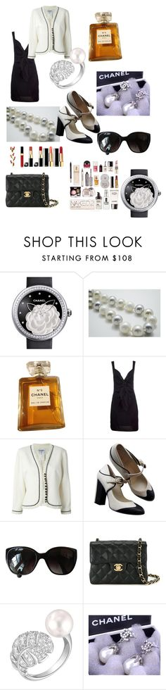 """Chanel Vintage Black & White"" by aheartforvintage ❤ liked on Polyvore featuring Chanel and vintage"