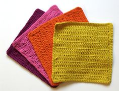 These Rise And Shine Washcloths are a perfect project for a beginner crocheter. Practice your half-double crochet with these useful dishcloths or washcloths!