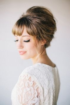 Wedding Hairstyles With Bangs Ideas