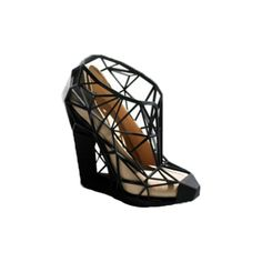 Invisible Shoe - Fashion is art. Turn your shoes into abstract and creative designs with the Invisible Shoe. Giving the optical illusion of geometric shapes, these shoes are a one-of-a-kind pair that will attract the best kind of attention as you strut through life.