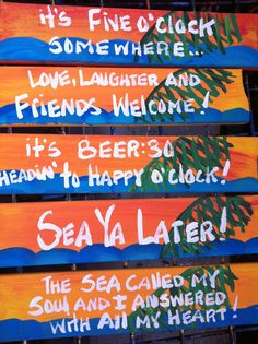 Custom personalized hand painted sign sunny with waves by RhondaK, $18.00