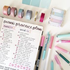 """109 Likes, 17 Comments - vanessa (@adagio.studies) on Instagram: """"Im not even doing that much stuff but im dead tired ugh here's a practice plan? it keeps me…"""""""