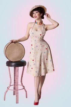 Bubbles halter circle dress. So sexy.