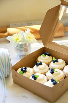 Jenny Steffens Hobick: Lemon Swiss Buttercream Cupcakes with Blueberries