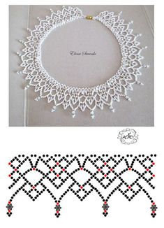Free openwork beaded collar pattern by anna anchik martynov featured in bead patterns com newsletter – ArtofitBest Seed Bead Jewelry 2017 Free pattern for beaded necklace Galaxy Diy Necklace Patterns, Beaded Jewelry Patterns, Beading Patterns Free, Beading Tutorials, Seed Bead Jewelry, Bead Jewellery, Marble Jewelry, Choker Jewelry, Beading Jewelry