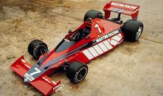 The prototype Brabham BT46. Gordon Murray designed it with the radiators on top of the angled sidepods. He later changed it, placing them in the front wing and on two winglets in front of the rear tires.