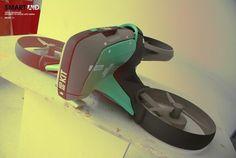 Future technology Smart Aid drone concept